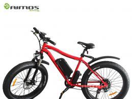 Aimos new style fat tire ebicycle, beach sport ebike 8fun bafang mi