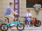 Newest carbon fiber electric bike outdoor show